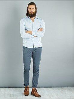 Hombre - Camisa fitted elástica - Kiabi