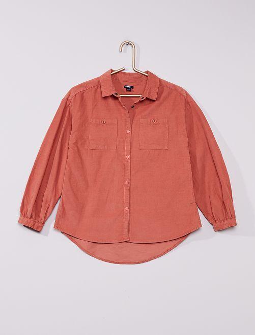 Camisa larga de terciopelo                                         ROSA
