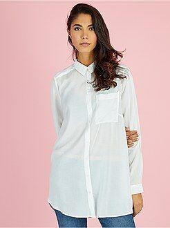 Mujer - Camisa larga de viscosa - Kiabi