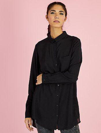 Mujer talla 34 to 48 - Camisa larga de viscosa - Kiabi