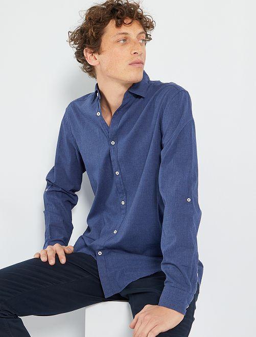 Camisa ligera de algodón                                                                                         AZUL