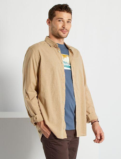 Camisa ligera de algodón puro +1,90m                                         beige