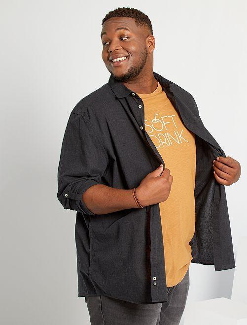Camisa ligera de algodón puro                                                                 negro
