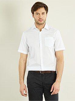 Camisas blancas - Camisa lisa con corte recto