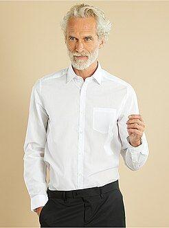 Camisas blancas - Camisa lisa de manga larga