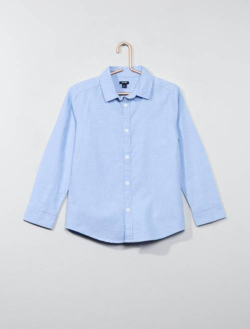 Camisa Oxford                     azul Chico
