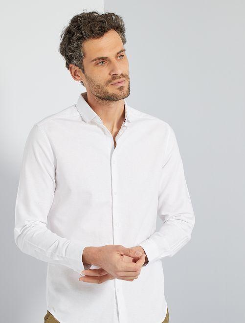 Camisa oxford eco-concepción                                                                 blanco