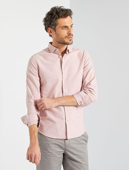 Camisa oxford eco-concepción                                                                 ROSA