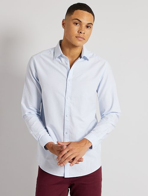 Camisa oxford regular                                                                                         AZUL