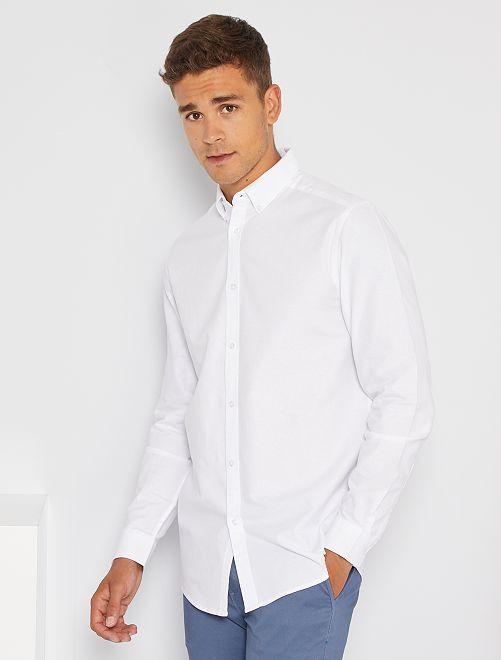 Camisa oxford regular                                                                 blanco