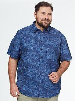 Camisa recta con estampado de palmeras