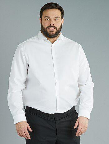 2764ea73cc1a2 Camisa recta de algodón de fantasía de planchado fácil - Kiabi