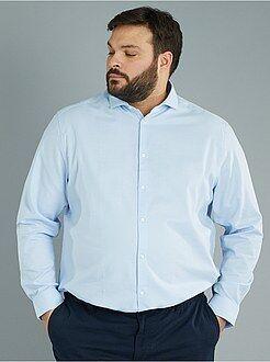 Camisas - Camisa recta de algodón de piqué - Kiabi
