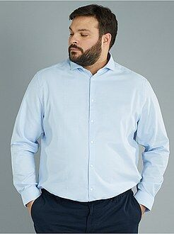 Camisa recta de algodón de piqué - Kiabi