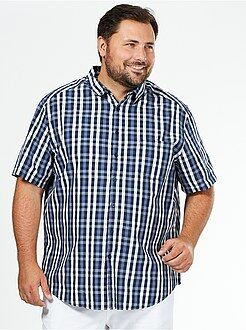 Camisa recta de manga corta