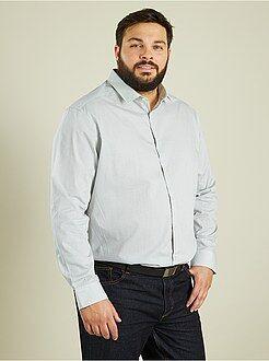 Camisas - Camisa recta de popelina a rayas