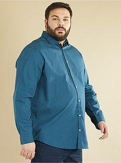 Camisas - Camisa recta de popelina estampada - Kiabi