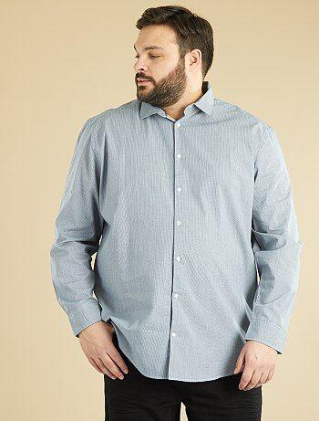 Camisa recta de popelina estampada - Kiabi