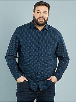 Camisas ciudad - Camisa recta estampada de popelina