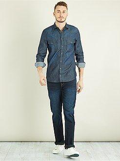 Hombre - Camisa recta vaquera +1,90 m - Kiabi
