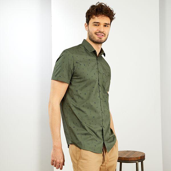 Camisa Regular 1 90 M Tallas Grandes Hombre Verde Kiabi 15 00