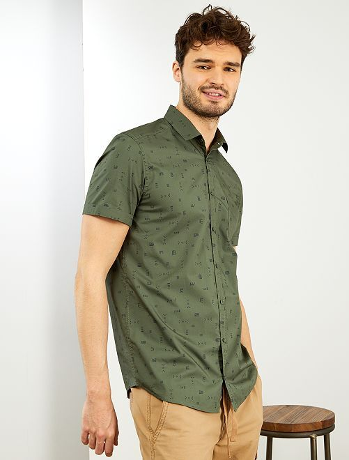 Camisa regular +1,90 m                             VERDE