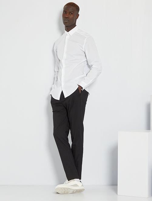 Camisa regular blanca                                         blanco