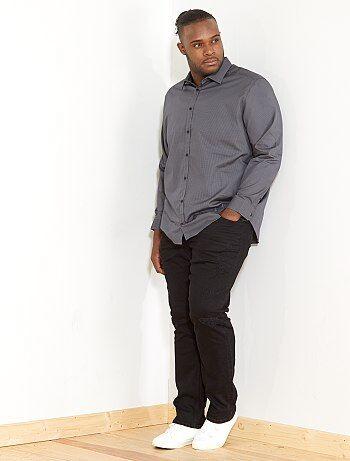 Camisa regular con micromotivo - Kiabi