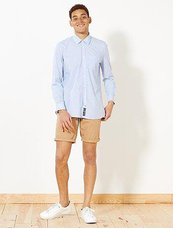 Hombre talla S-XXL - Camisa regular con micromotivos - Kiabi
