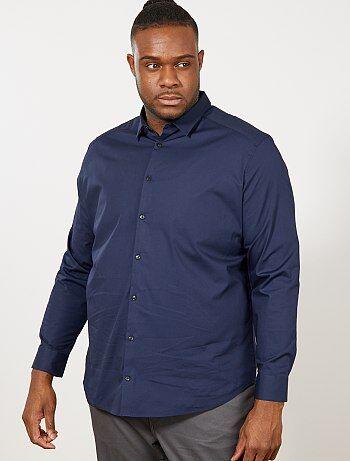 Tallas grandes hombre - Camisa regular de algodón elástico - Kiabi b783c4f6ea5
