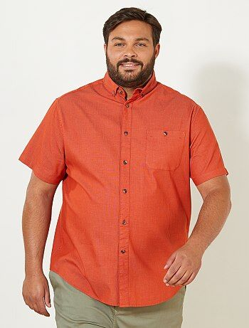 Tallas grandes hombre - Camisa regular de algodón - Kiabi