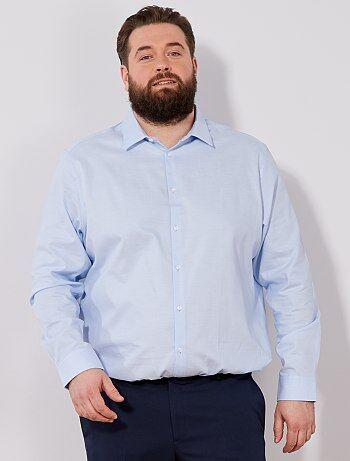Tallas grandes hombre - Camisa regular de algodón oxford - Kiabi