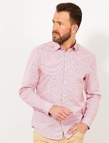 Camisa regular de popelina con micromotivo - Kiabi 7e03c9f189d47