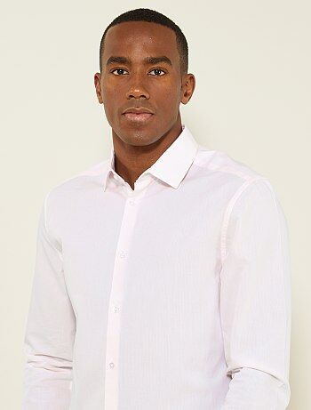 Hombre talla S-XXL - Camisa regular de popelina con micromotivo - Kiabi