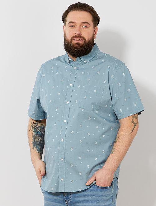 Camisa regular estampada                                                                                                                             AZUL Tallas grandes hombre