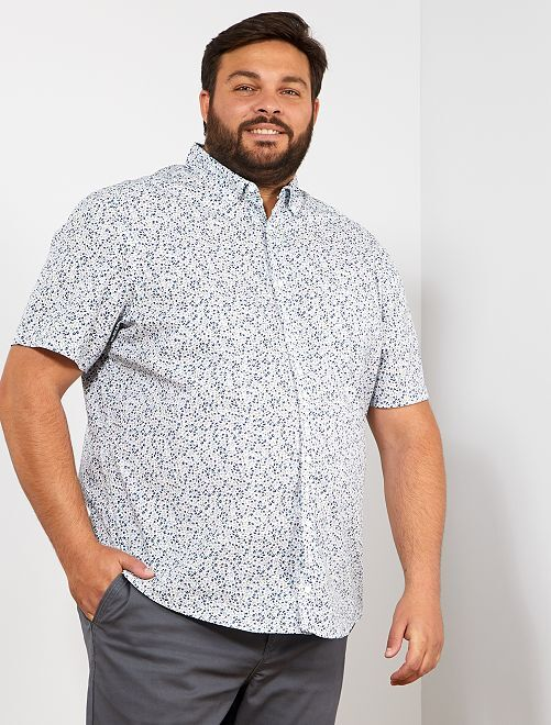 Camisa regular estampada                                                                             BLANCO