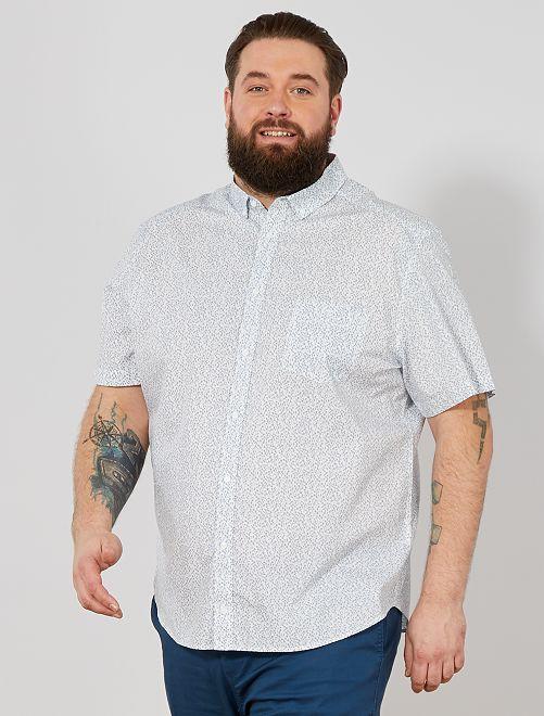 Camisa regular estampada                                                                                                                 BLANCO Tallas grandes hombre