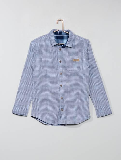 6fbc1b8c6 Camisa reversible Joven niño - azul - Kiabi - 15