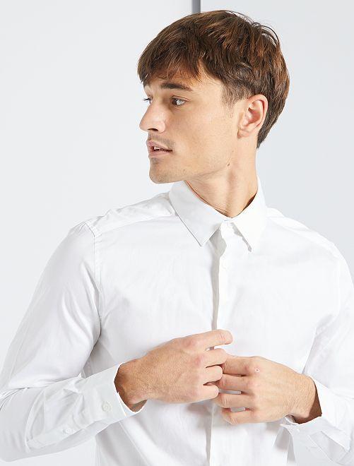 Camisa satinada                                                     blanco