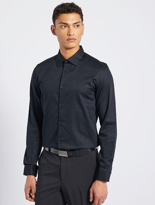 Camisa satinada                                                     negro
