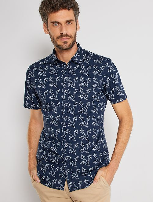 Camisa slim                                                                                                                                                                             AZUL