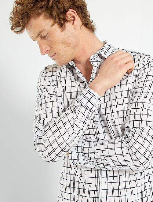 Camisa slim                                                     BLANCO