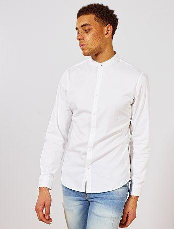 Hombre talla S-XXL - Camisa slim con cuello mao - Kiabi 3f4d144a4ea77