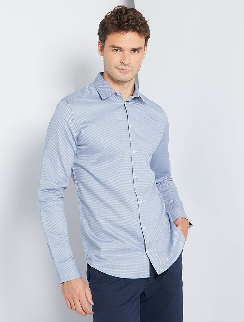 Camisa slim 'eco-concepción' +1,90 m                                         AZUL