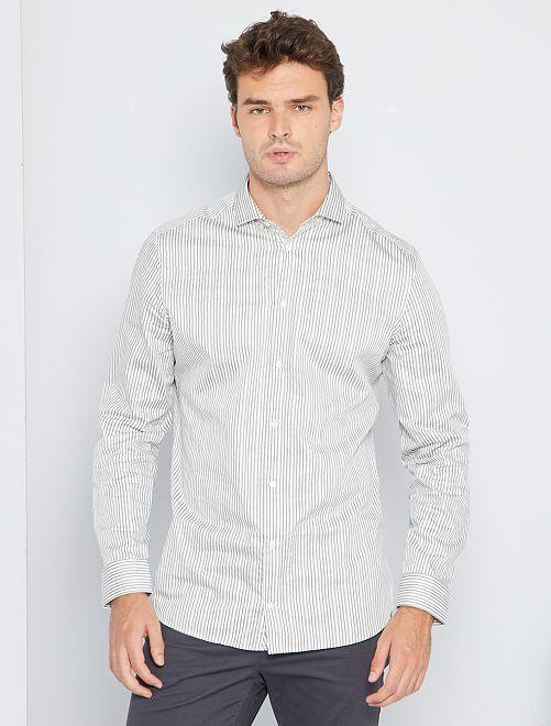 Camisa slim eco-concepción +1,90 m                                         BLANCO
