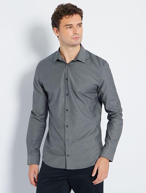 Camisa slim 'eco-concepción' +1,90 m                                         negro