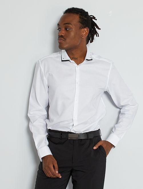 Camisa slim eco-concepción                                         blanco