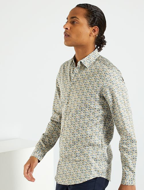 Camisa slim 'eco-concepción'                     BLANCO
