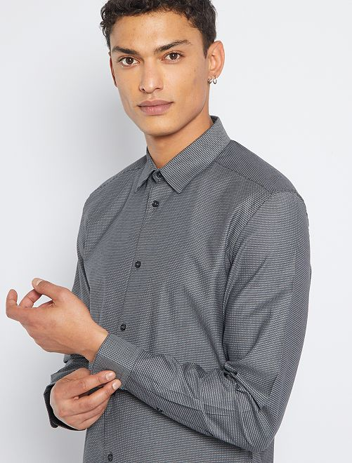 Camisa slim 'eco-concepción'                                                                                         negro
