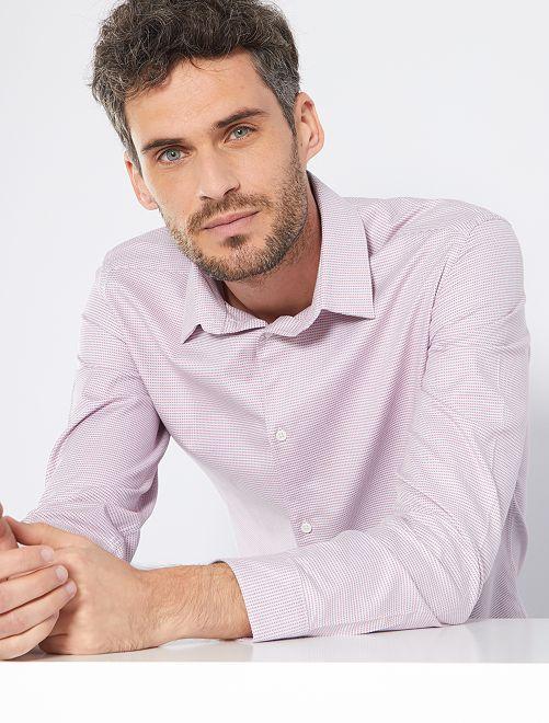 Camisa slim 'eco-concepción'                                                                 ROSA